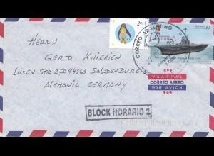 Argentinien: 1997: Luftpost nach Saldenburg, Block Horario 2, Flugzeugträger