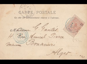 Äthiopien: 1901: Ansichtskarte Pont du Chébelé nach Alger