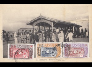 Äthiopien: Ansichtskarte Djibouti, Le Marché