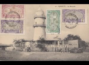 Äthiopien: 1912: Ansichtskarte Djibouti La Mosquée nach Zürich