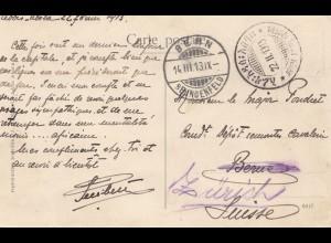 Äthiopien: 1913: Ansichtskarte Cavalier abyssin Addis Abeba nach Bern und zurück