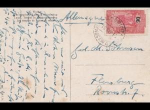 Äthiopien: 1931: Ansichtskarte Luxor in Morgenstimmung nach Flensburg