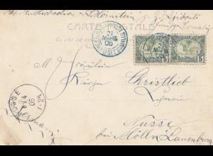 Äthiopien: 1905: Djibouti Ansichtskarte Type Seraé nach Nusse