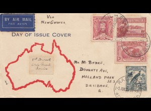 Australien: 1938: FDC Air Mail Brisbane