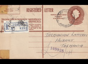 Australien: 1935: Registered Randwick to Tasmania/Hobart Lotteries