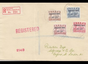 Nauru: Central Pacific: 1935: Registered to London