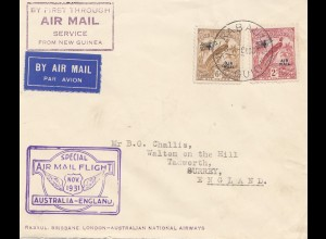 Australien: 1931 Special Air Mail Flight Australia-England