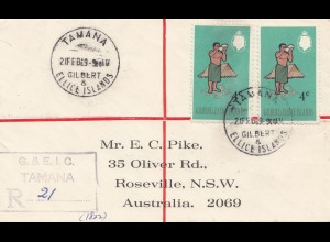 Australien: 1969: Tamana Registered to Roseville NSW