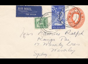 New Zealand: 1949: Air Mail Petone to Sydney