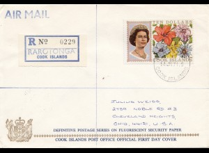 Australien: 1968: Cook Islands Rarotonga - Registered FDC to USA