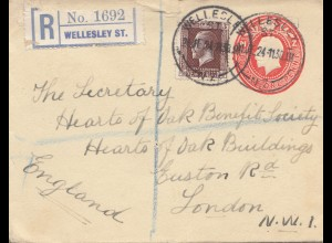 Australia Registered cover to London