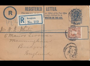 Australia 1913: Registered letter to England