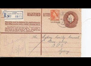 Australia 1956: Registered letter, Glebe to Sydney