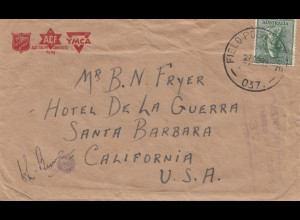 Australia 1944: YMCA - ACF - Salvation Army - Fieldpost to USA