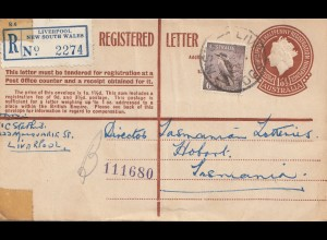 Australia 1957: Registered letter from Liverpool NSW
