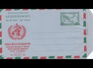 Papua New Guinea: World Health Organization - Aerogramme - Port Moresby
