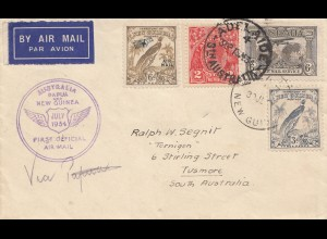 New Guinea: 1934: First official Air Mail -Adelaide to Tusmore