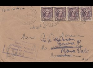 Australia: 1945: Field Post Air Mail- Censor - to Mosman