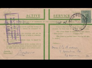Australia: 1944: Field Post Air Mail- Censor - to Mosman