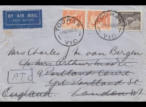 Australia: 1939: Aiur Mail Toorak to London