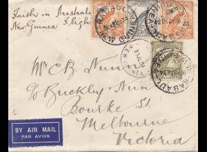 New Guinea: 1934: Air Mail Rabaul to Melbourne