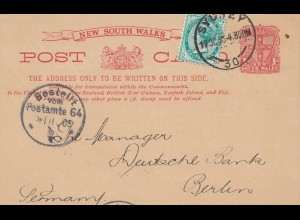 Australia 1905: Post card Sydney to Germany