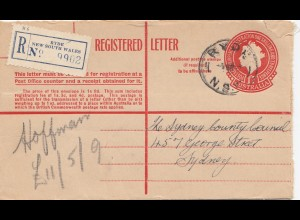 Australia 1957: Registered letter Ryde to Sydney
