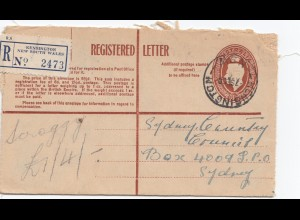 Australia 1950: Registered letter Kensington to Sydney