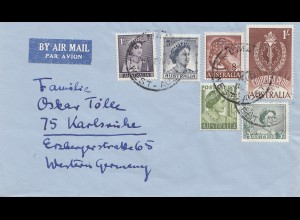 Australia: 1951: Air Mail to Karlsruhe / Germany