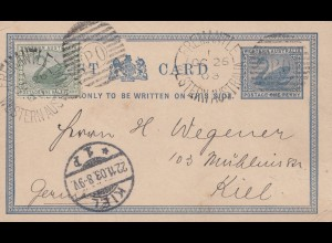 Australia: 1903: Post card Fremantle to Kiel/Germany