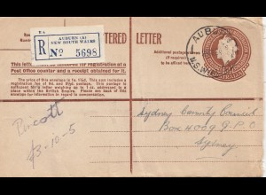 Australia 1959: Registered letter Auburn to Sydney