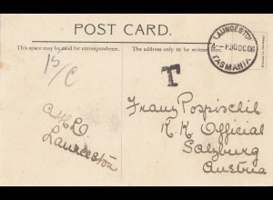 Australia: 1906: Postcard Laungeston to Austria