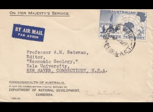 Australia: 1957: Air Mail to USA