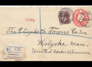 New Zealand 1928: Registered Papatoetoe to USA