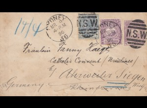 Australia 1896: Sydney to Siegen/Germany