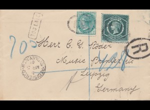 Australia 1901: Registered NSW - Sydney to Leiphig - TOO LATE