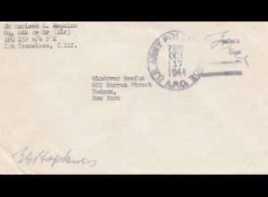 Netherland New-Guinea: San Francisco US Army postal Service to New York