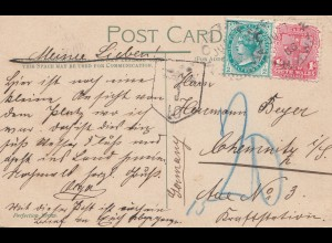 Australia: NSW - postcard to Germany - Taxe