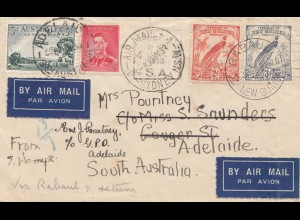 Australia: 1933: Air Mail Sydney to Adelaide