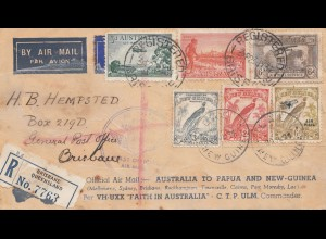 Australia: 1934: Air Mail registered Brisbane