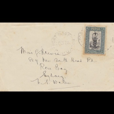 Papua: 1938 Port Morespy to Sydney - Rose Bay