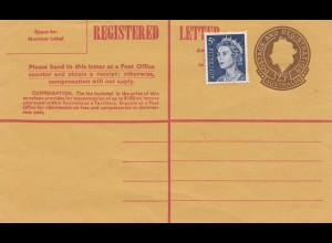 Australia Registered letter - unused