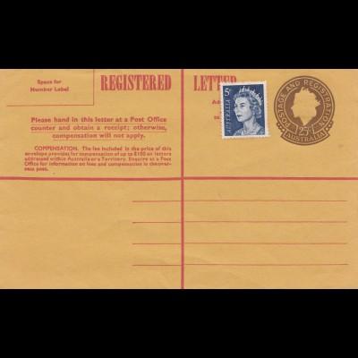 Australia Registered letter - unused