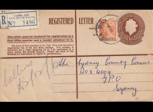 1956: Registered mail: Yarra Bay to Sydney
