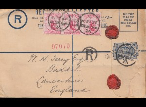 Australia 1906: Registered letter to England