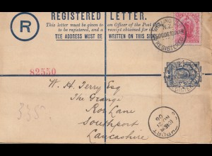 Australia 1910: Registered letter Wellington to Southport