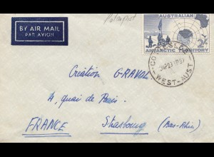 Australia: 1957: Air Mail to France