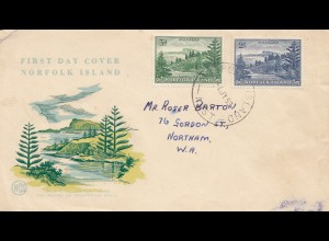 Norfolk Island 1953: FDC to Northam