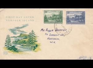 Norfolk Island 1953: FDC to Northam