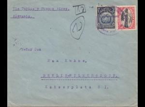 Bolivia/Bolivien: 1921: Letter via Tupiza to Berlin